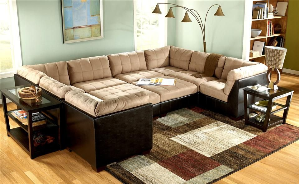 10 Piece Modular Pit Group Sectional Couch Affordable Living