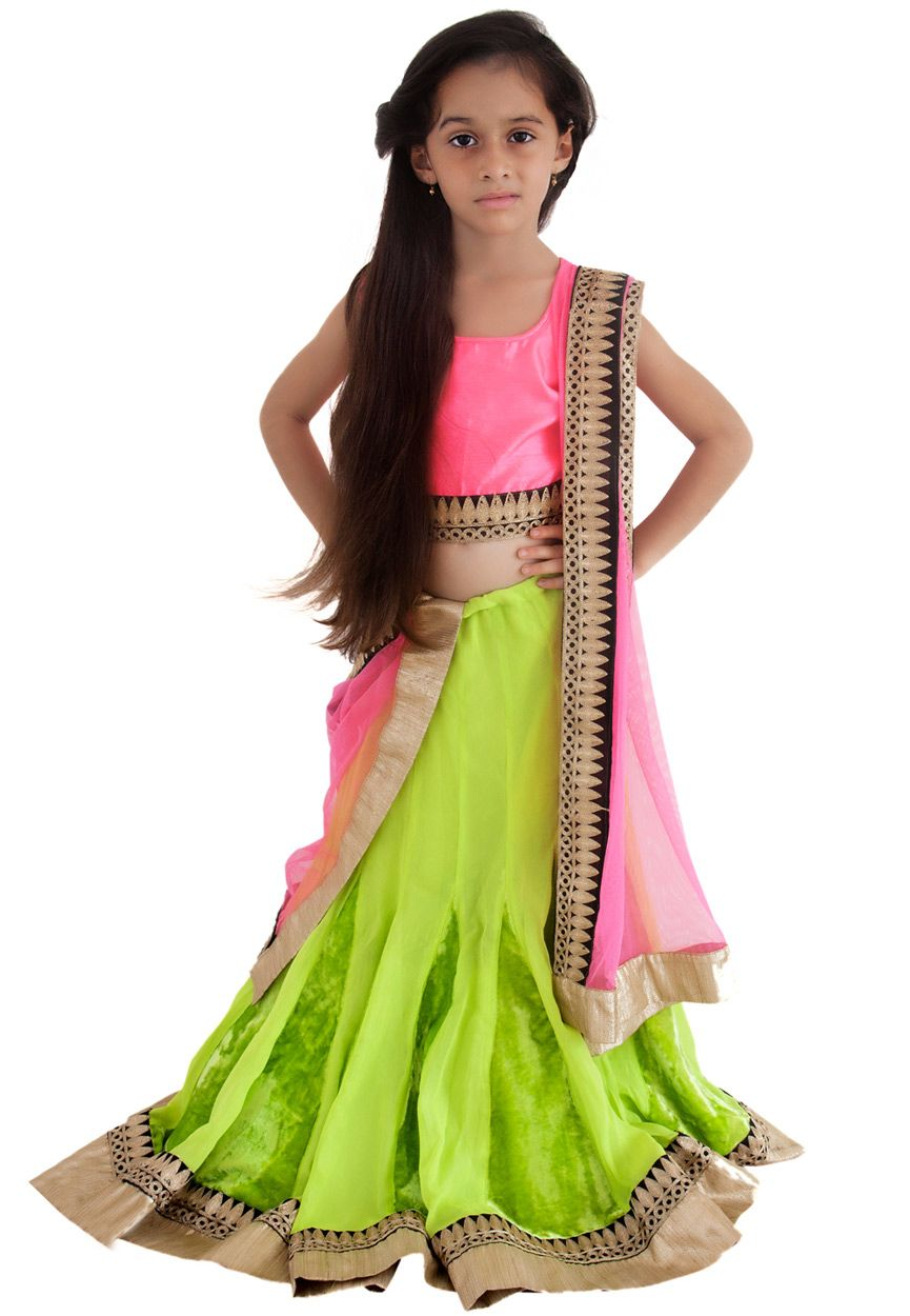 ce46990079c18e Green Faux Georgette and Velvet Readymade Lehenga Choli with Dupatta Online  Shopping: UKU13