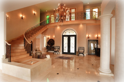 awesome entrance & stairs!