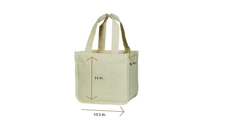 Hand-printed Eco-friendly Shopping Tote bags Letter L The Monogram Co