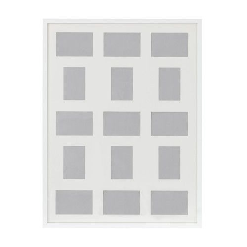 IKEA RIBBA frame for 15 pictures The mount enhances the picture and ...