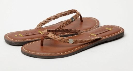 3e52e3787c2e49 Roxy Sangria Leather Sandals for Women Tan - Another great basic flip flop  - Add to