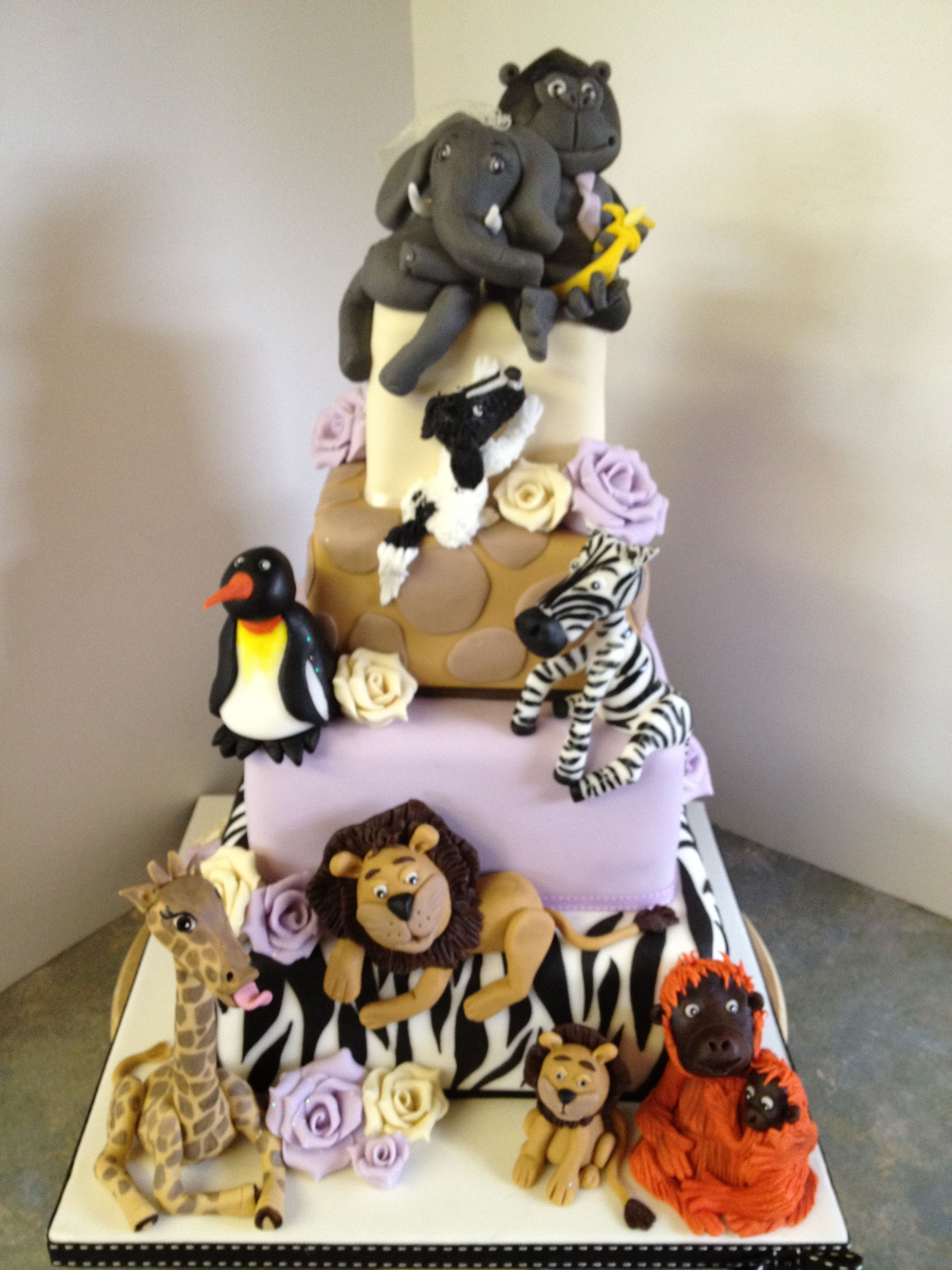 Zoo animal wedding cake | Birthdaycakes | Pinterest ...