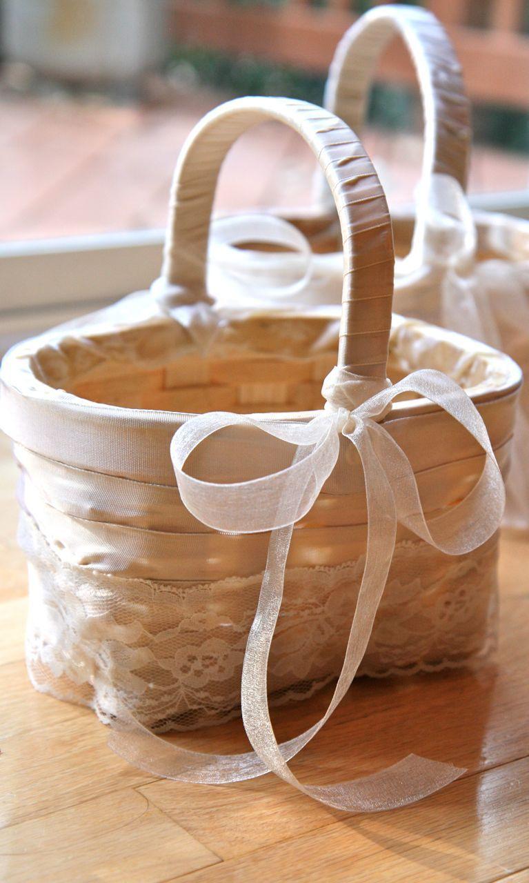Handmade Flower Girl Baskets And Other Wedding Diy Diy Flower