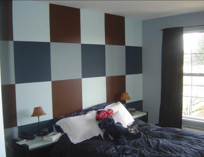 Kreative Wandgestaltung Mit Farbe Wanddesign Ideen Dachboden Quadratte
