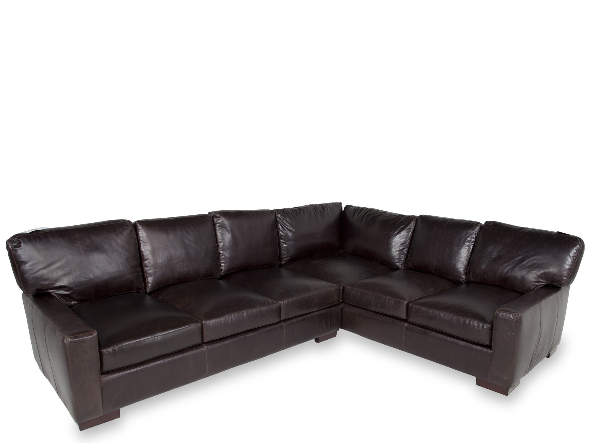 Usa Tobacco 2 Piece Leather Sectional Leather Sectional