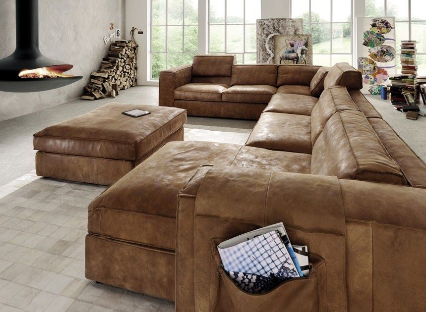 Cool Sofa Xxl U Form In 2020 Leather Couches Living Room Best