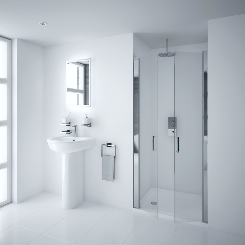 Milano Portland 1000mm Double Hinged Shower Door 6mm Shower Doors Shower Enclosure Interiors Addict