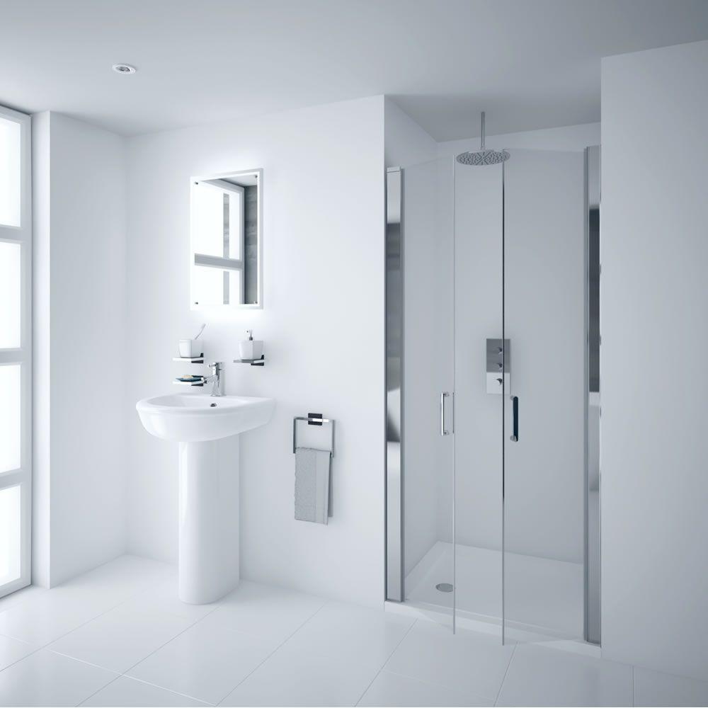 Milano Portland 1000mm Double Hinged Shower Door 6mm Easy