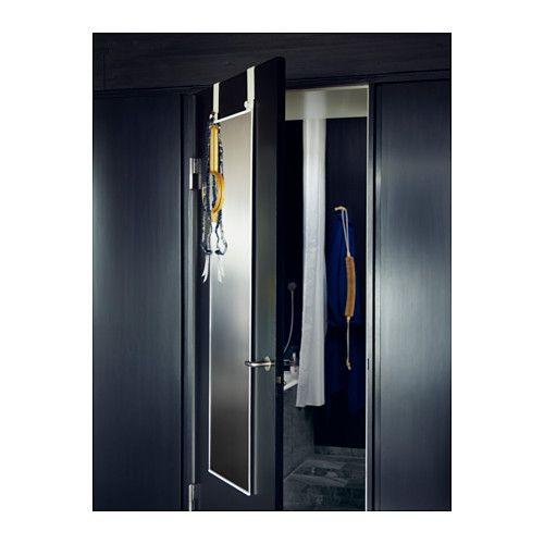 GARNES Over The Door Mirror, Door Hanging White