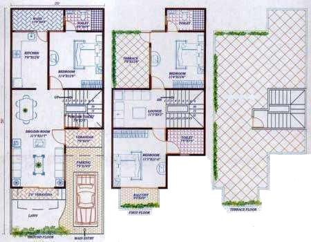 3 4 bhk row houses and bungalows for sale near a b byepass for 3 bhk bungalow plan and elevation