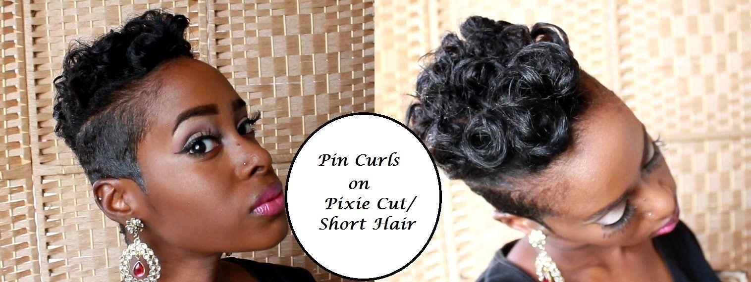 pin curls on pixie cut/ short hair - youtube   short hair