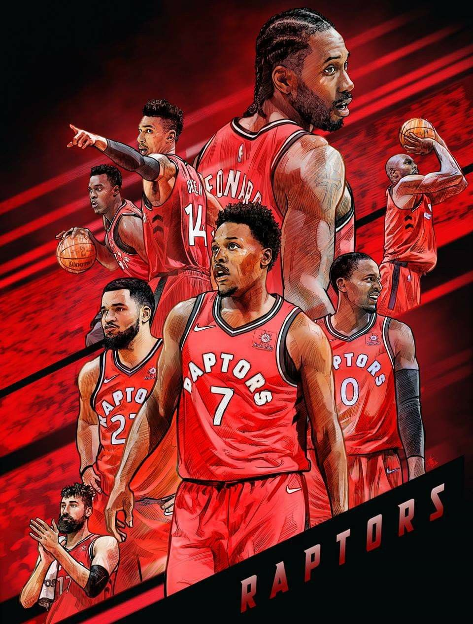 Pin By Brian Gridley On Nba Cool Arts Toronto Raptors Basketball Raptors Basketball Basketball Players Nba