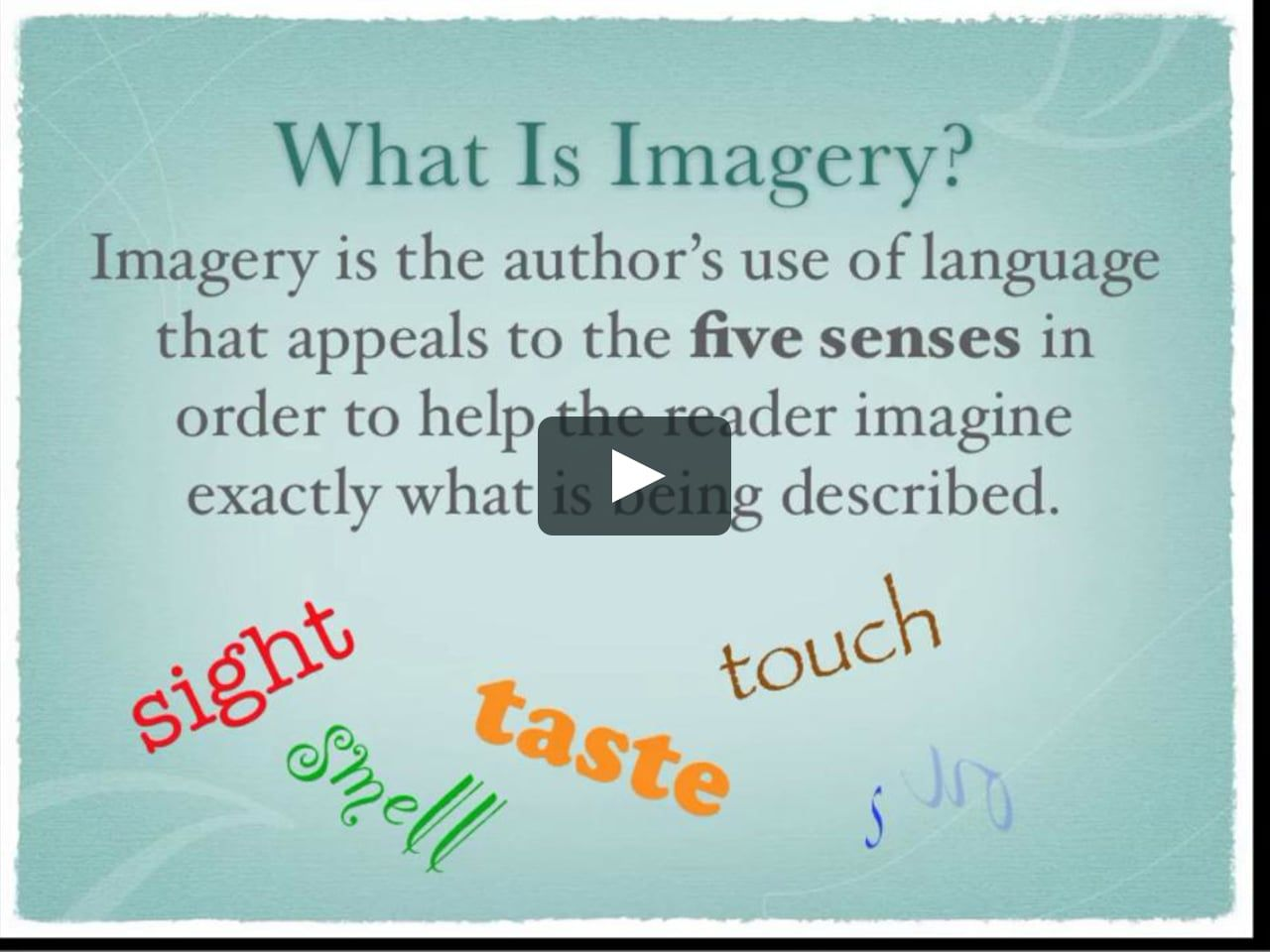 Imagery In Poetry Can You See It Now Lesson Language Lessons Example Orange By Gary Soto