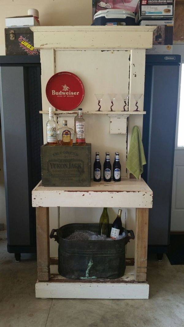 Mini Bar Made From 1920 S Farmhouse Reclaimed Wood And Door Home