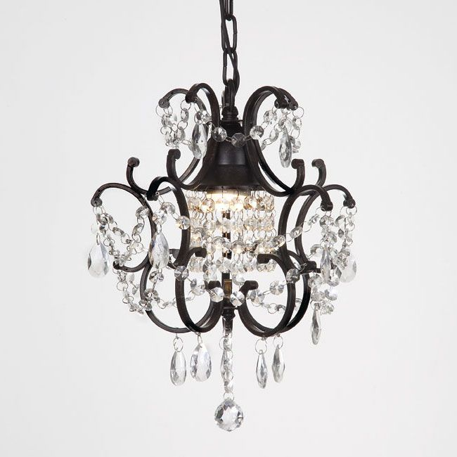 Create A Atmosphere In Your Bedroom With This One Light Mini Crystal Chandelier