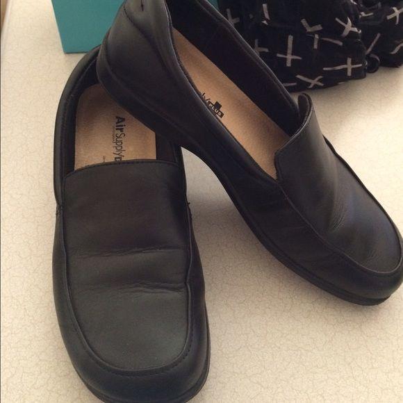 AirSupply Plus Siesta Women's Black Loafers. Comfortable ShoesBlack ...