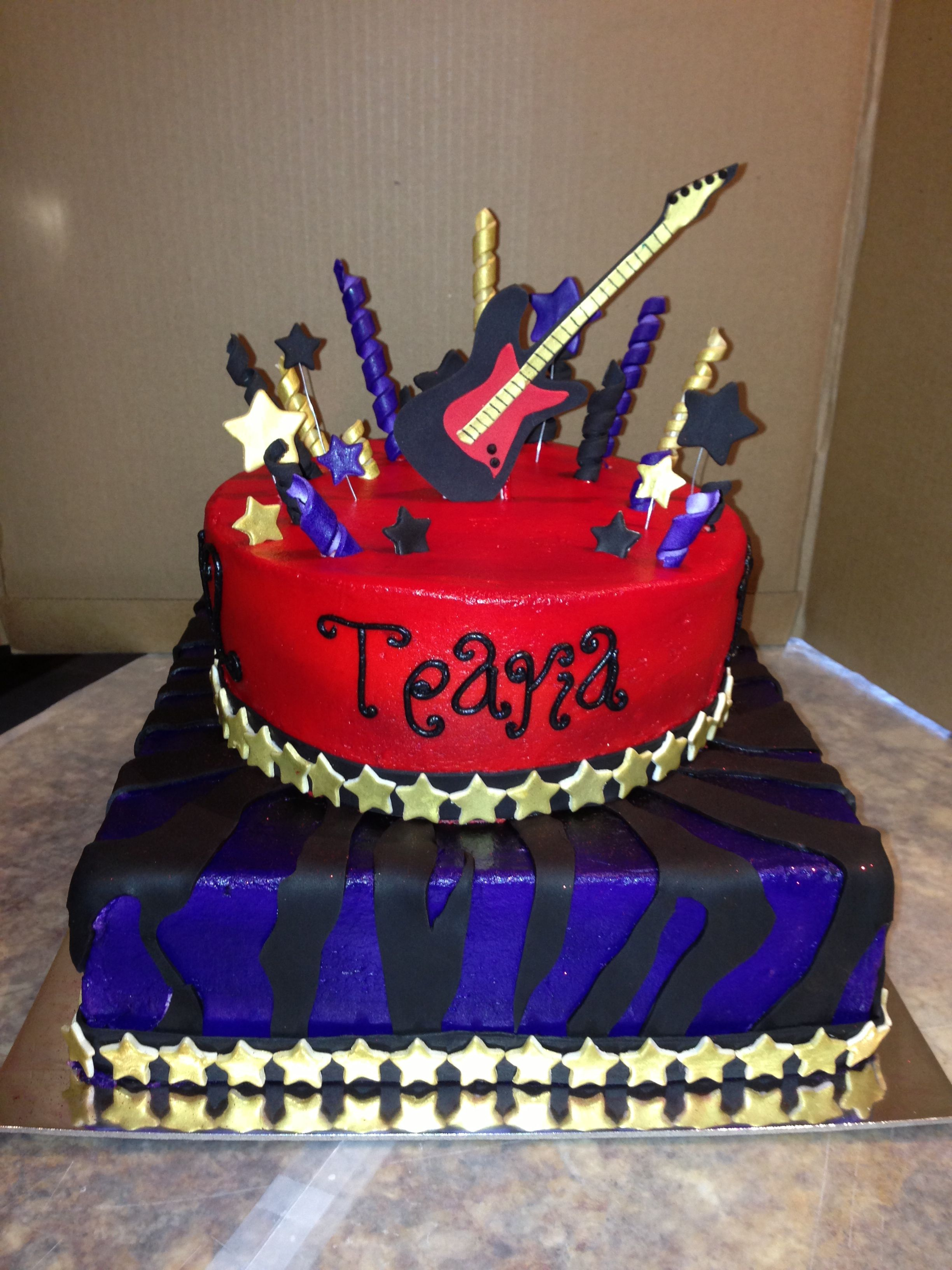 Wondrous Rockstar Cake I Made Mallory Gray 50 Cakes Of Gray Facebook Funny Birthday Cards Online Alyptdamsfinfo