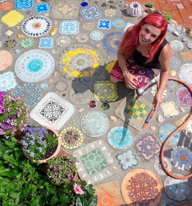 mein bunter garten topp bastelb cher online kaufen tiny tiles pinterest garten mosaics. Black Bedroom Furniture Sets. Home Design Ideas