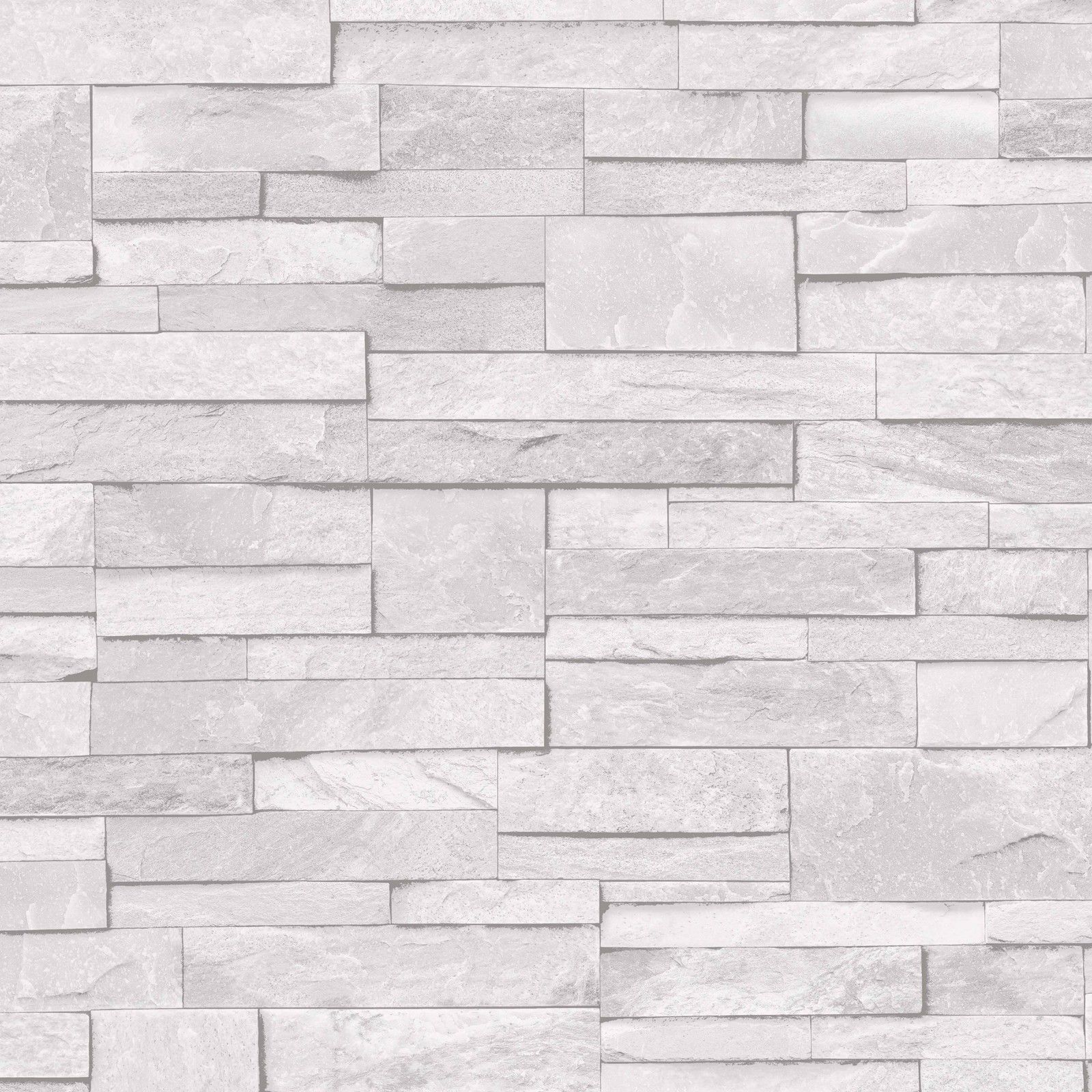 Details About 3d Slate Stone Brick Effect Wallpaper Washable Vinyl Stone Sand Grey Look Wallpaper Papel De Parede Lavavel Tapetes