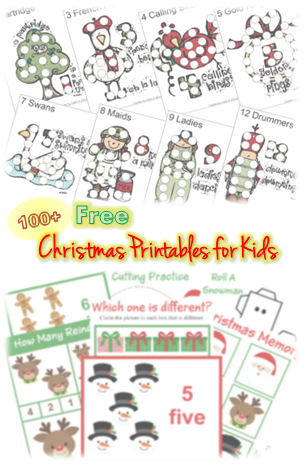 100 Free Christmas Printable Worksheets For Kids Pinterest Free