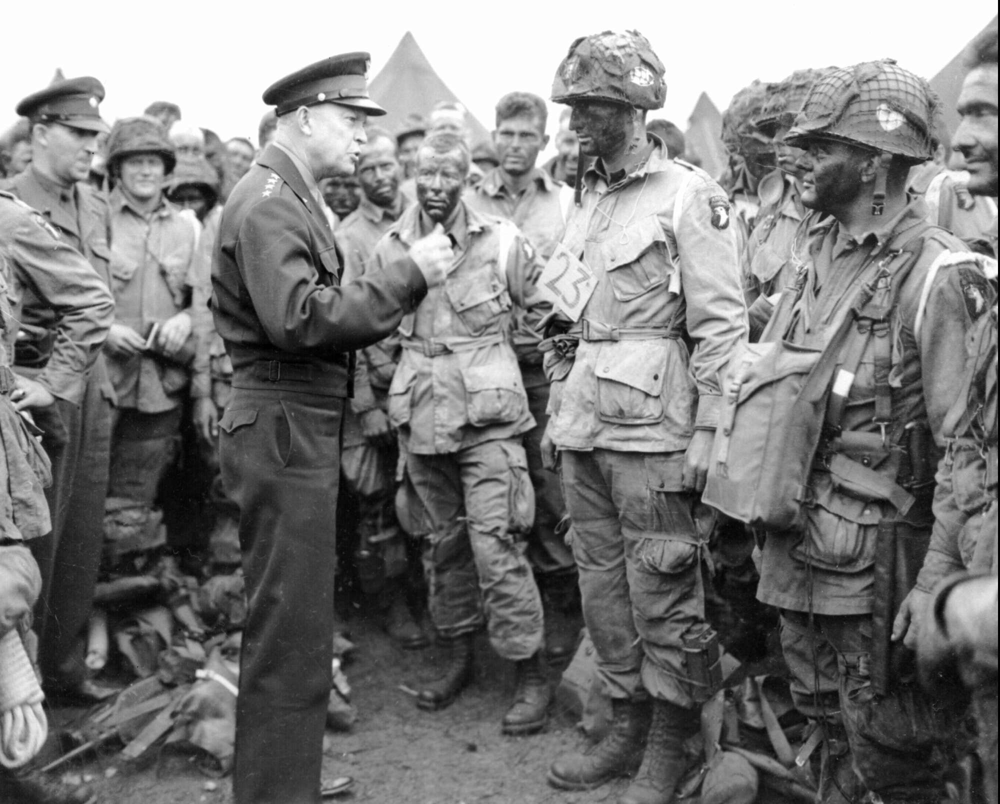 Image result for IKE visited the troops