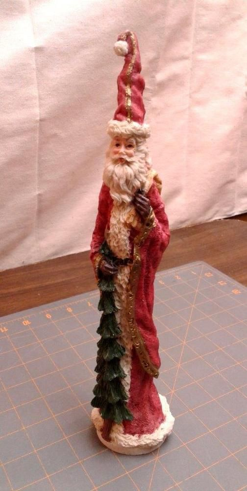 Vintage Christmas Santa Tall Skinny Figurine Old World Style Vintage Christmas Old World Style Vintage Bedroom Decor