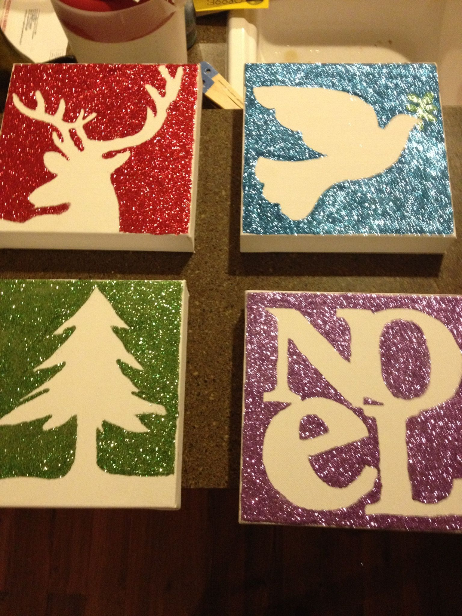 craft ideas with canvas 2012 craft project glitter canvas from dollar 3967
