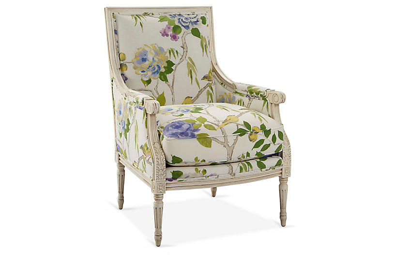 James Accent Chair White Green Linen In 2020 Upholstered