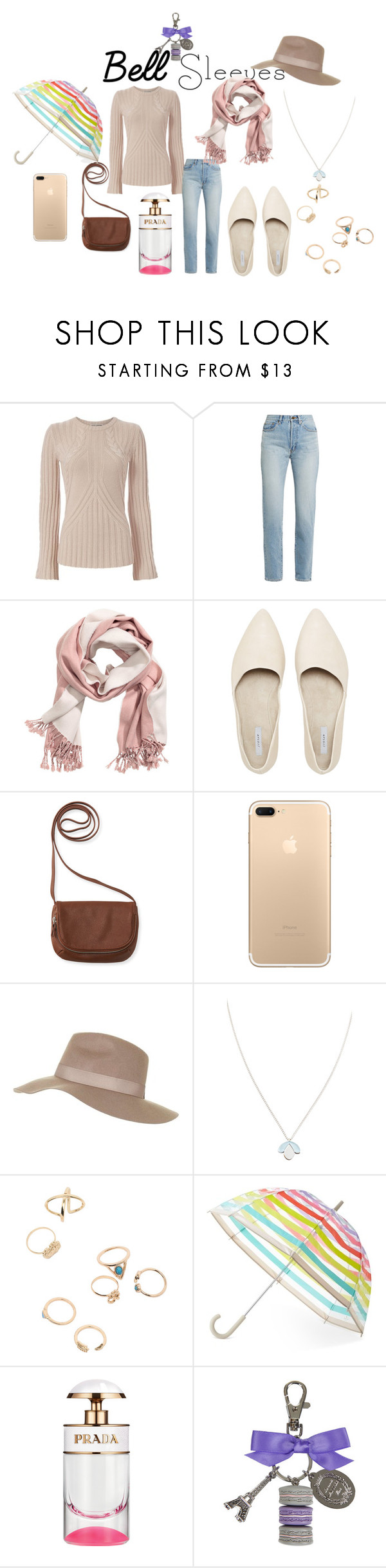"""Bell Sleeves"" by blancheflor ❤ liked on Polyvore featuring Autumn Cashmere, Yves Saint Laurent, Aéropostale, Topshop, Wolf & Moon, Kate Spade, Ladurée, Fall, outfit and chic"