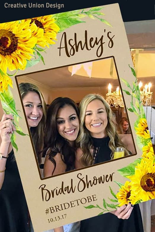 Sunflower Design DIY Photo Prop Frame. 24 x 36 #bridalshowerdecorations