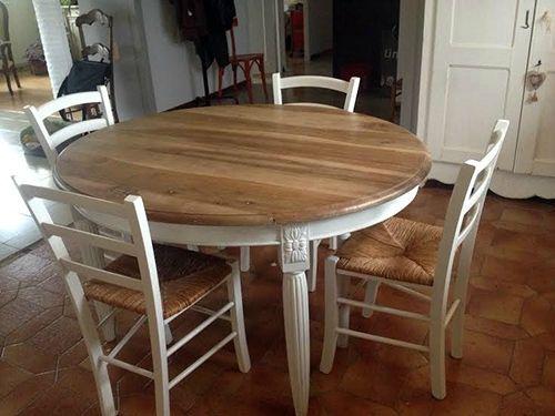 Table Salle A Manger Bois Blanchi