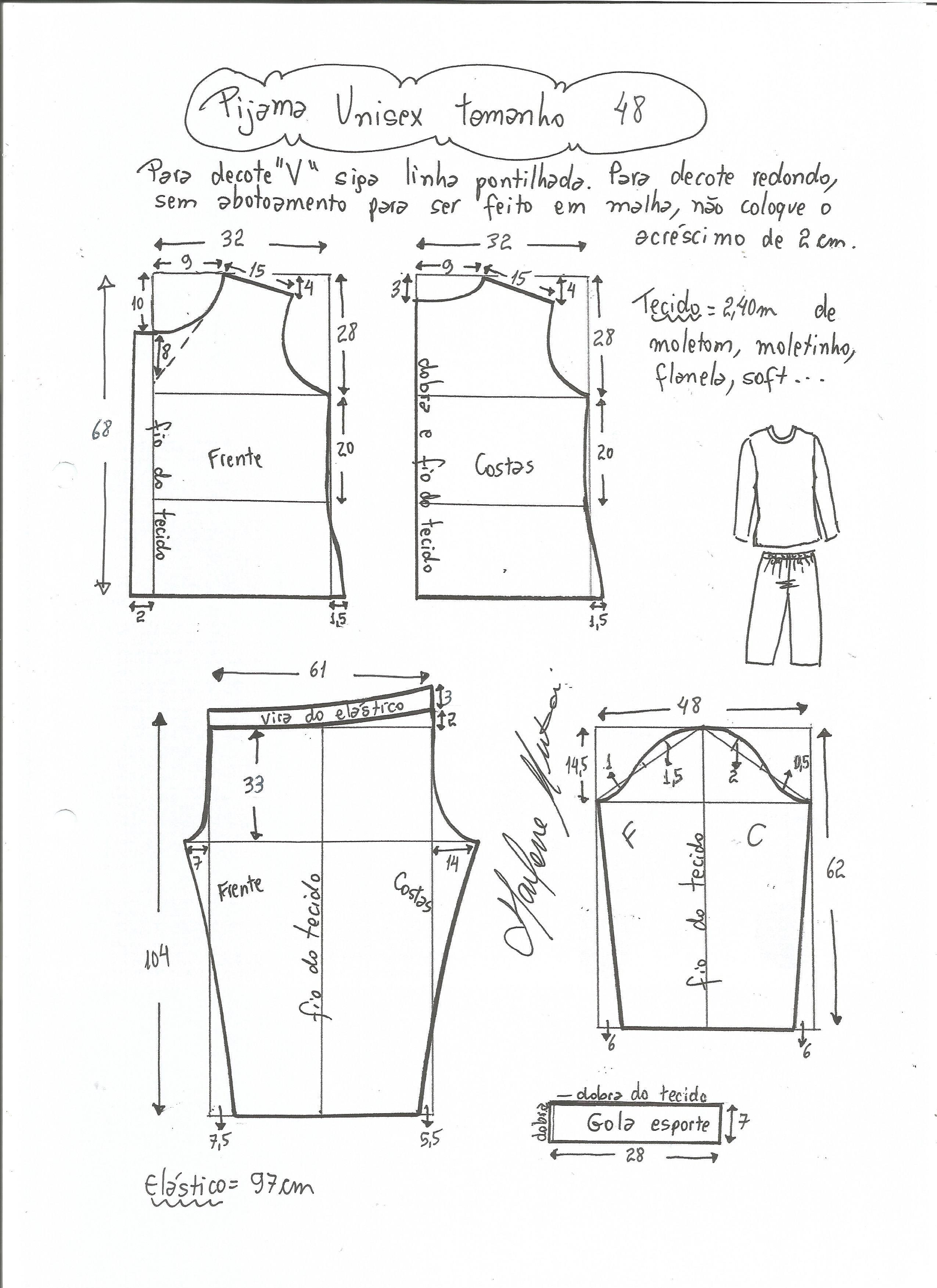 pijama-unisex-48.jpg (2550×3507) | moldes de costura | Pinterest ...