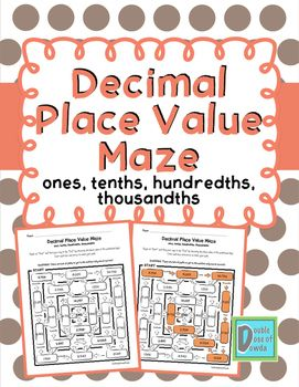 Decimal Place Value Worksheet Distance Learning For Packets Simplest Form Fractions Simplest Form Place Value With Decimals