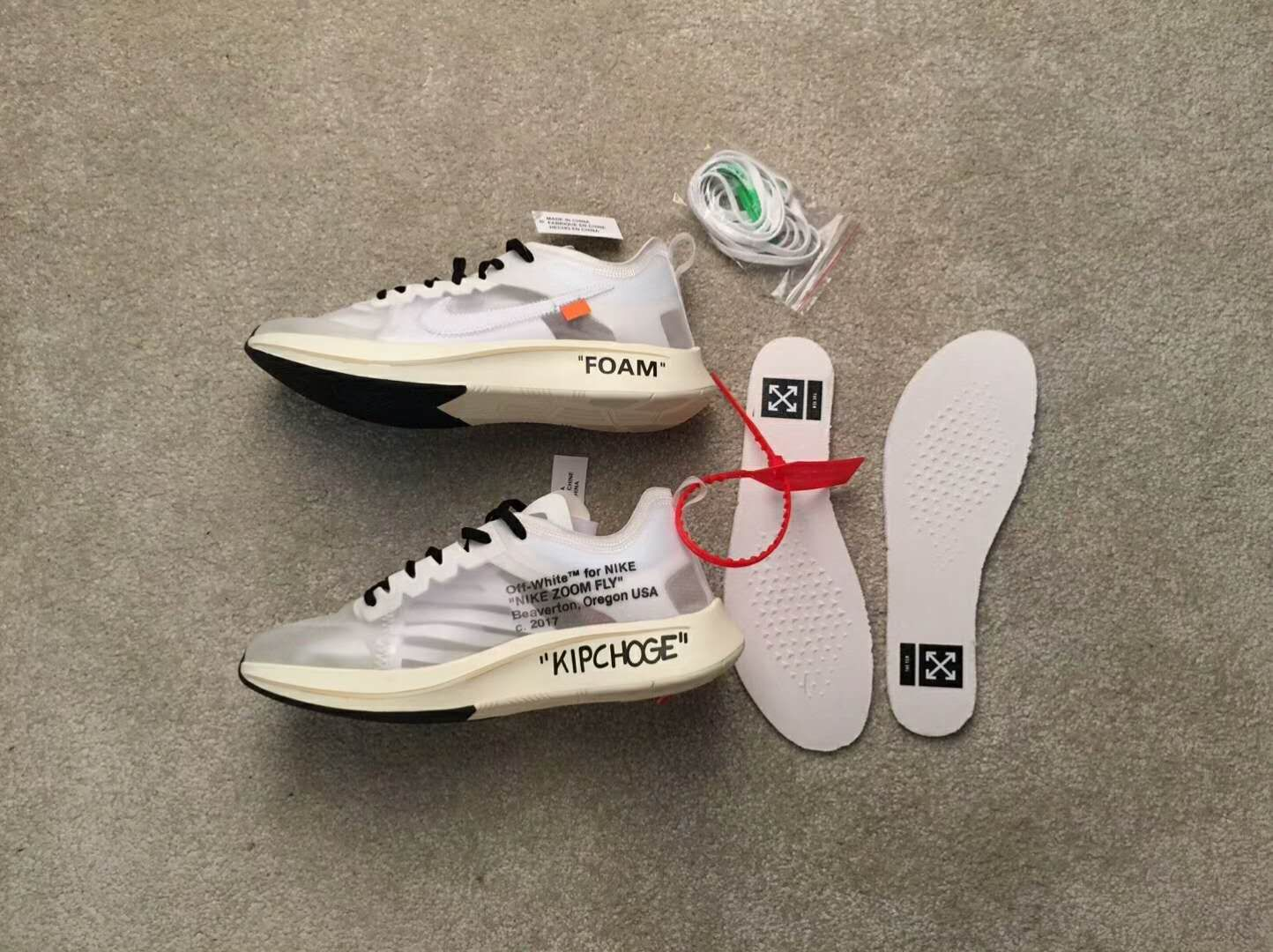 27329fbf3af6 nike the ten off-white zoom fly aj4588-100