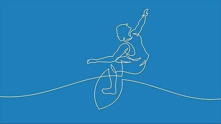 Linear line surfer