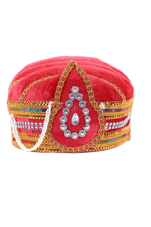 Buy Online Rent Mungal Fancy Pagadi Turban Red Red Turban Stuff To Buy
