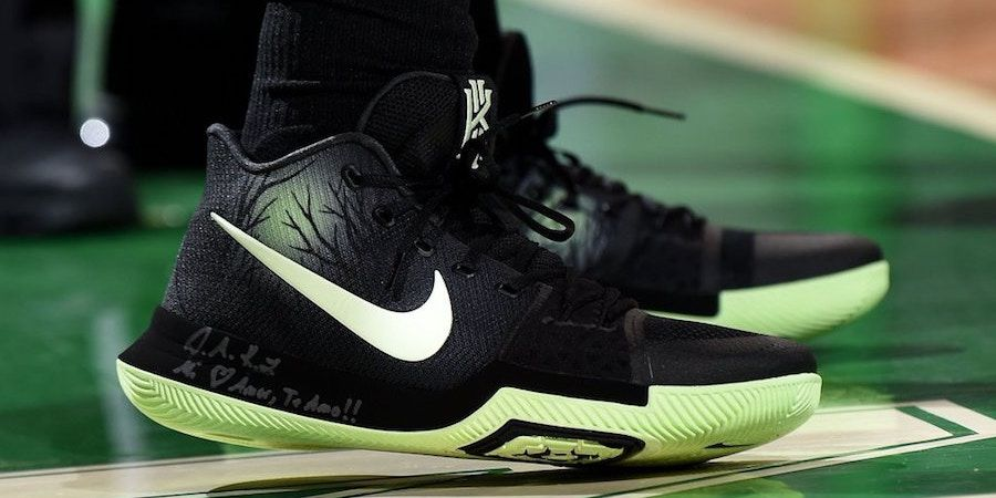 ac5c538214e1 Nike Kyrie 3 Fear PE Worn Against Orlando  thatdope  sneakers  luxury  dope   fashion  trending