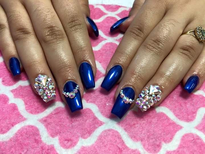 100 Prom Nail Art Designs For Stunning Prom Nails Blue Nails Prom