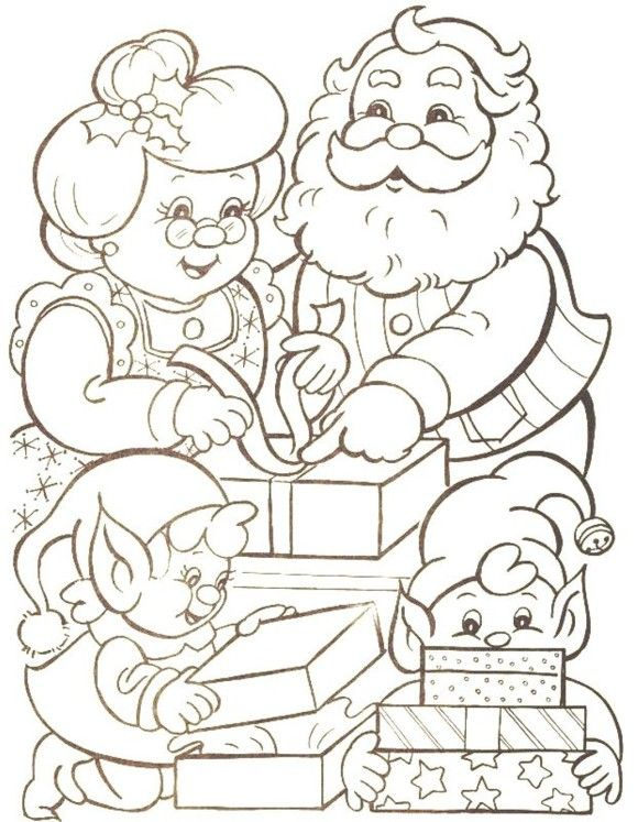 Families Of Mr Santa Claus Christmas Coloring Pages
