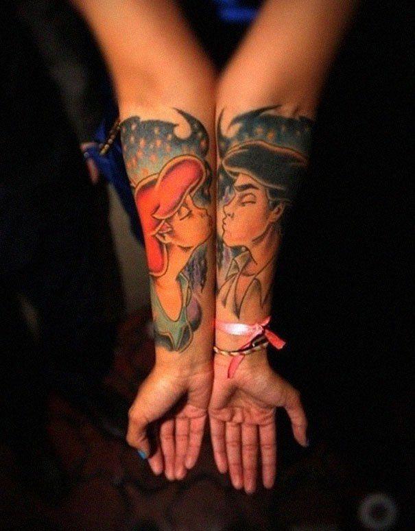 Matching couple tattoos - Tatuagens mais criativas de casais