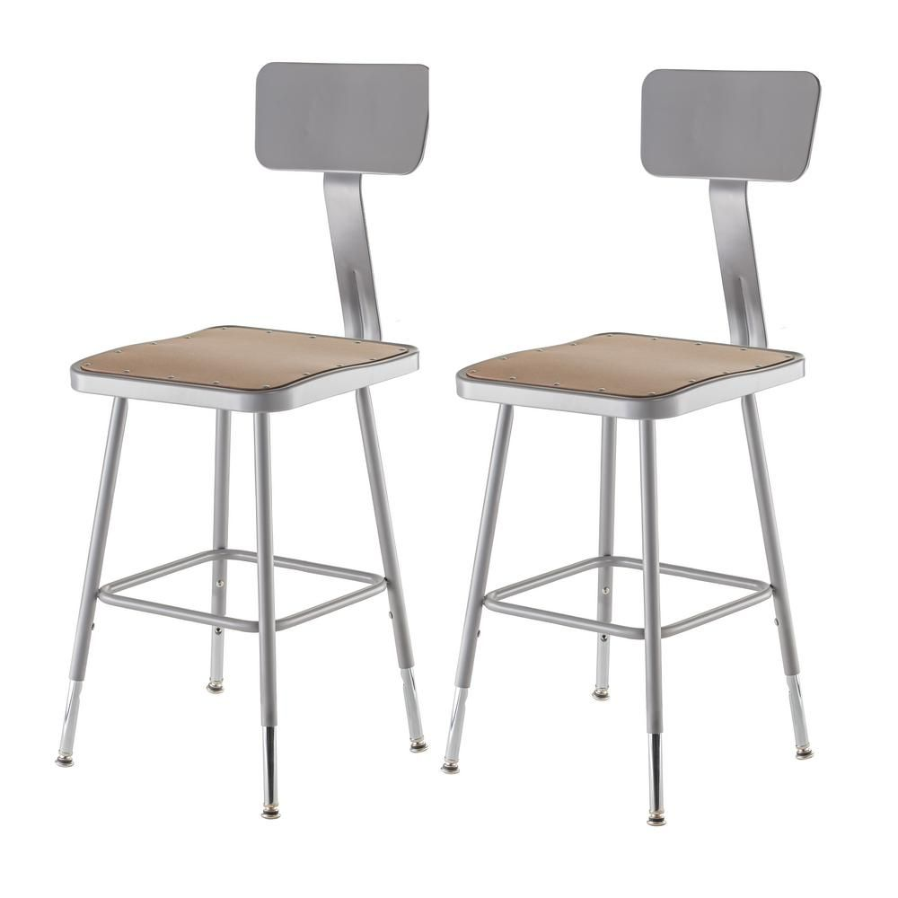 Tremendous National Public Seating 19 In To 27 In Height Adjustable Ibusinesslaw Wood Chair Design Ideas Ibusinesslaworg