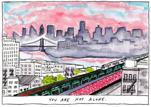 """rookiemag:  """" The Big, Scary Thing A comic about my self-harm.  By Esme Blegvad.  """"  My new REALLY LONG AND SAD comic is out tonight on Rookie! Yippee!"""