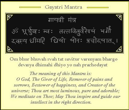 Gayatri Mantra in Hindi and English, this is a very famous