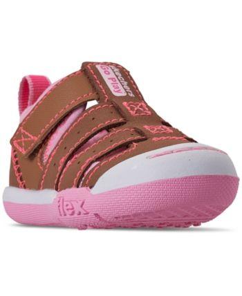 6cd12df296759 Skechers Toddler Girls' Flex Play - Solar Steps Athletic Sandals from  Finish Line - CHESTNUT/PINK/WHITE 4