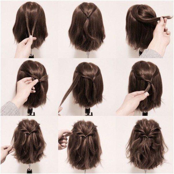 Hair Tutorial Frisuren Schone Frisuren Kurze Haare Zopf Kurze Haare