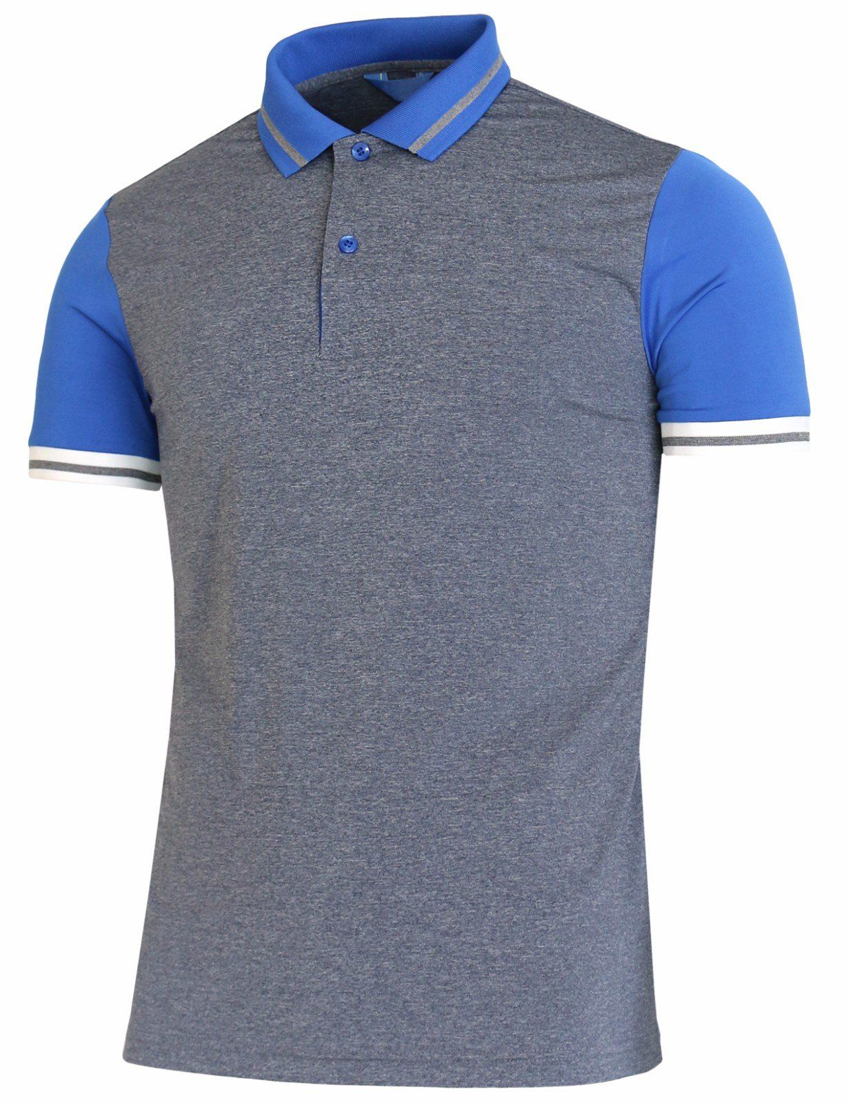 09a01885 Men Golf Clothing - BCPOLO Mens Polo Shirt Spandex Raglan Short Sleeve  Athletic Polo Shirt Blue L