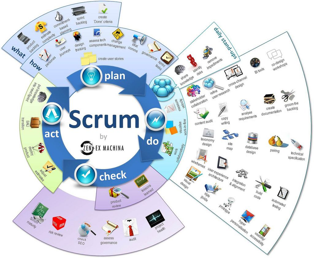 Agile Scrum Project Management Certification scrum infographic | agile software development, software