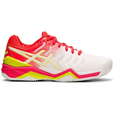 New Asics Gel Resolution 7 Mens Tennis Shoes UK 10  White  trainers sneakers