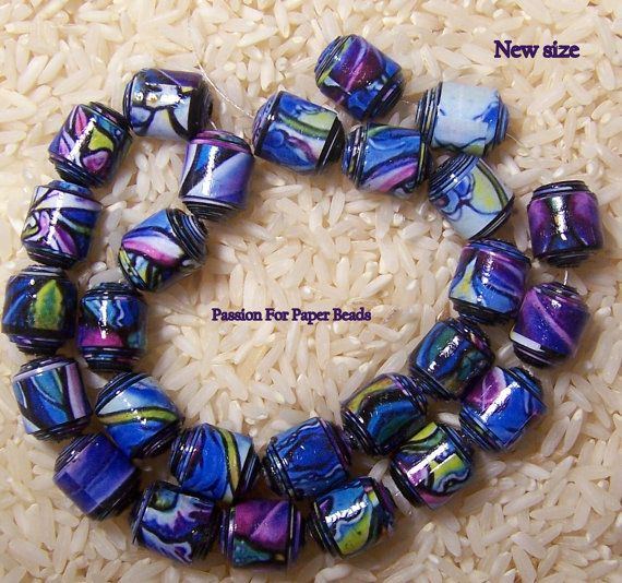 Paper BeadsChase The Blues Away Set 1 by PassionForPaperBeads
